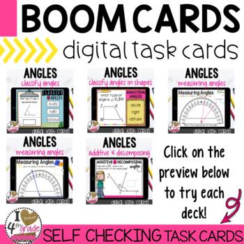Boom Cards Measuring Angles Bundle
