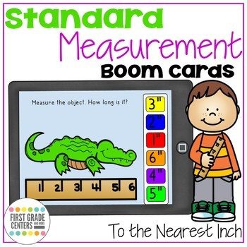 Boom Cards Measurement to the Inch