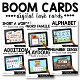 Boom Cards™ Distance Learning   Math & Literacy Task Cards Bundle