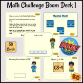 Boom Cards: Mental Math Assessments Set 1 3rd-4th Graders