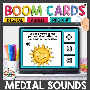 CVC Middle Sound Recognition Boom Cards