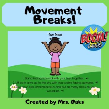 boom cards™  mindful movement breaks hotdealsmrs