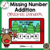 Boom Cards Missing Number Addition Christmas