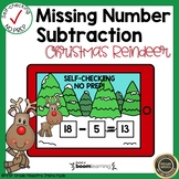 Boom Cards Missing Number Subtraction Christmas