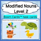 Modified Nouns - Level 2 - Field of Four - Boom Cards™