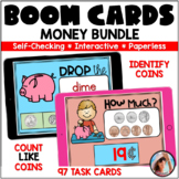 Identify Coins   Count  Like Coins   Boom Cards™ Money Bundle