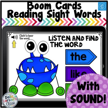 Boom Cards Monster Sight Words