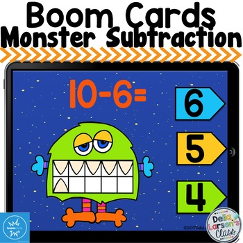 Boom Cards Monster Subtraction
