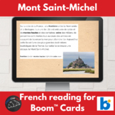 Boom Cards™ - Mont Saint-Michel reading for French learners