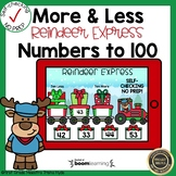 Boom Cards More and Less to 100 Christmas
