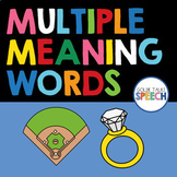 Boom Cards | Multiple Meaning Words | Speech Therapy Distance Learning
