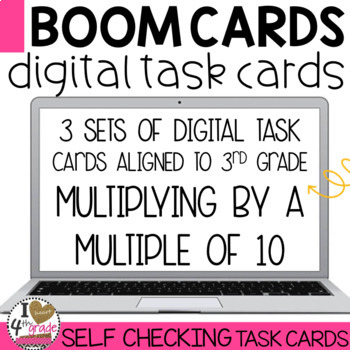 Boom Cards Multiply by Multiples of 10 Bundle