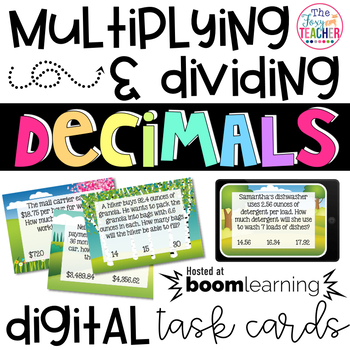 Boom Cards Multiplying and Dividing Decimals Interactive Digital Task Cards