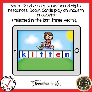 Boom Cards Multisyllabic Closed Syllable Build a Word