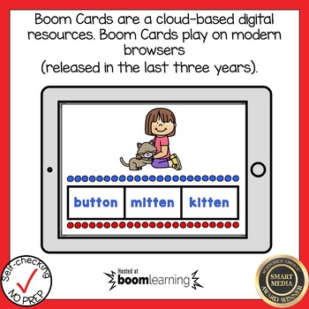 Boom Cards Multisyllabic Closed Syllable  Find the Word