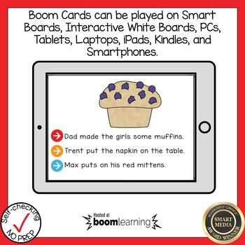 Boom Cards Multisyllabic Closed Syllable Read the Word