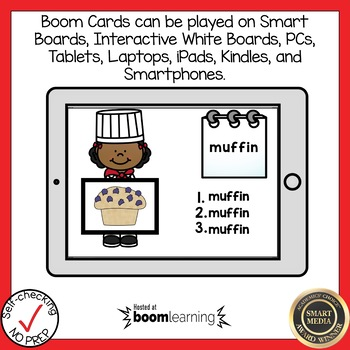 Boom Cards Multisyllabic Closed Syllable Write the Word