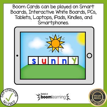 Boom Cards Multisyllabic Y as Vowel Build a Word