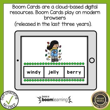 Boom Cards Multisyllabic Y as a Vowel Find the Word