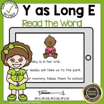 Boom Cards Multisyllabic Y as a Vowel Read the Word