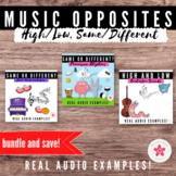 Boom Cards™ Music Opposites - High and Low, Four-Beat Rhyt