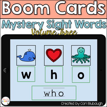 Boom Cards - Mystery Sight Words Vol. 3