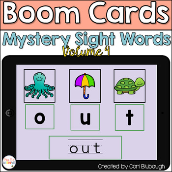 Boom Cards - Mystery Sight Words Vol. 4