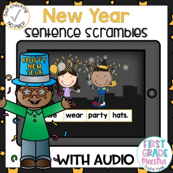 Boom Cards New Year Sentence Scrambles