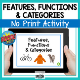 Boom Cards No Print Features, Functions and Categories