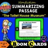 Boom Cards Nonfiction Summarizing Reading Passage #4