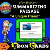 Boom Cards Nonfiction Summarizing Reading Passage #5