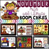 Boom Cards November Math and Literacy