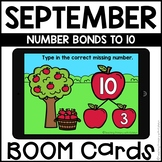 Boom Cards™ | Number Bonds to 10 | September Themed First Grade