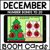 Boom Cards™   Number Bonds to 20   December Themed First Grade