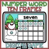 Boom Cards Number Words & Ten Frames Digital Activity Wint