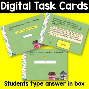 Boom Cards  Numbers Expressed in Unit, Expanded, Word, and Standard Form