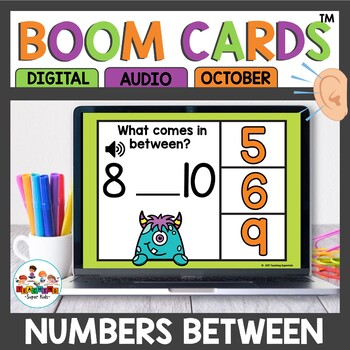 Boom Cards Numbers in between October Themed