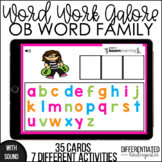 Boom Cards - OB Word Family Galore Work for Distance Learning
