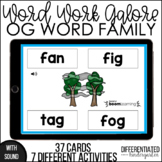 Boom Cards - OG Word Family Galore Work for Distance Learning