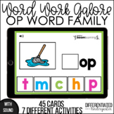 Boom Cards - OP Word Family Word Work Galore
