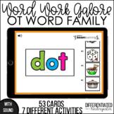 Boom Cards - OT Word Family Word Work Galore