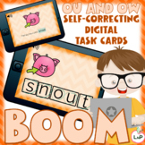 Boom Cards OU and OW Diphthongs Word Building, Segmenting,