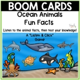Boom Cards Ocean Animals Facts & Quiz! Distance Learning
