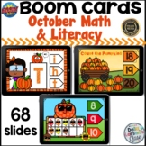Boom Cards October Math and Literacy Bundle