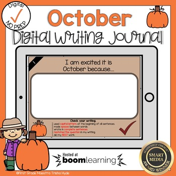 Boom Cards October Writing Journal