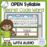 Boom Cards Open Syllable Secret Code Words