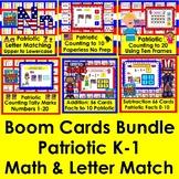 Boom Cards Patriotic Bundle for Kindergarten and First Grade