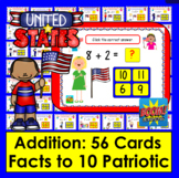 Boom Cards Patriotic Math Addition Facts to 10: MULTIPLE C