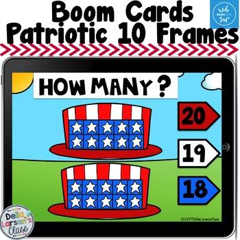 Boom Cards Patriotic Ten Frames