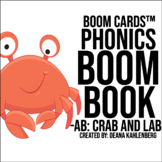 Boom Cards™️ Phonics Boom Book: Crab and Lab